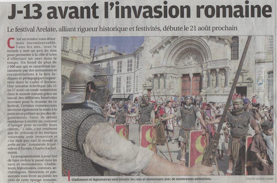 Festival Arelate Arles Légion romaine Legio VI Ferrataa