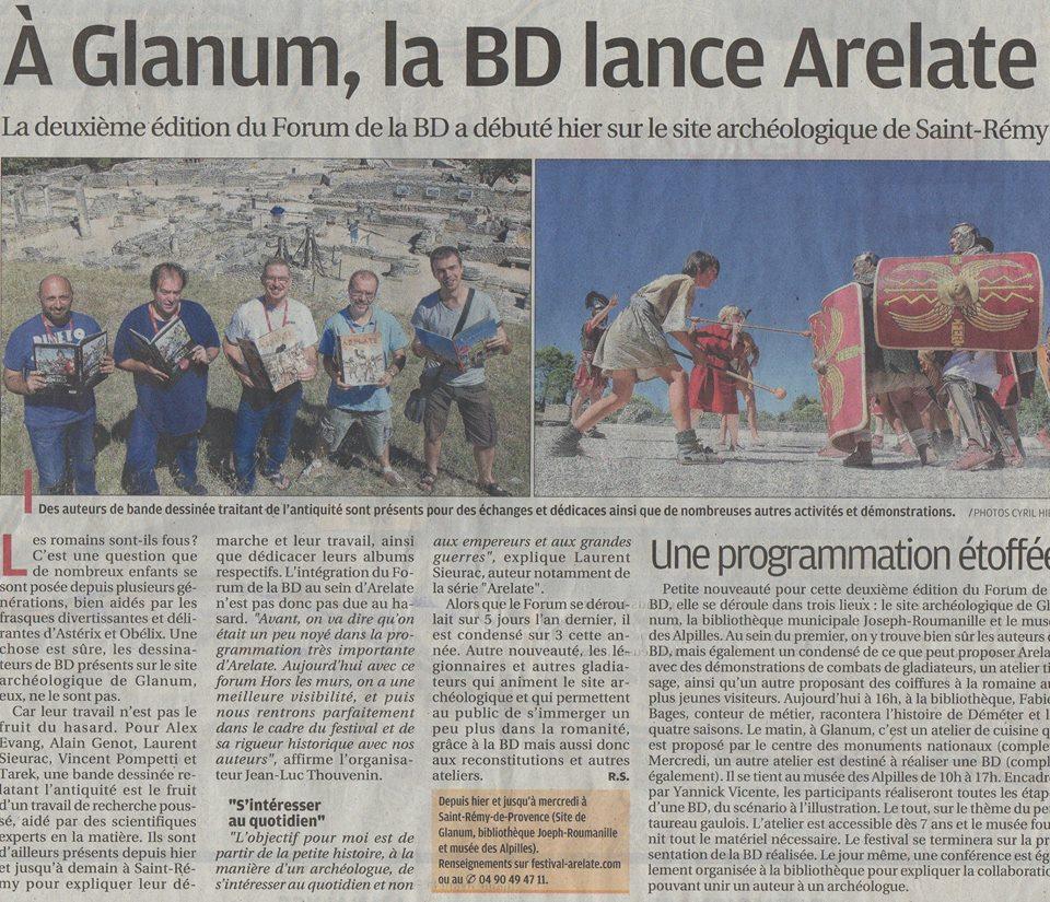 Glamum Saint Rémy de Provence Festival Arelate Legio VI reconstitution Historique Bande dessinée Arelate