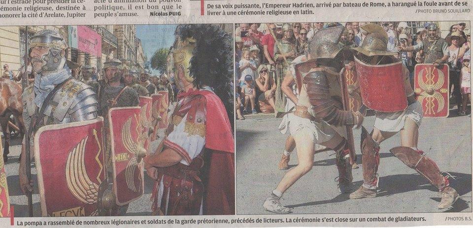 Festival Arelate Legio VI Ferrata reconstitution historique légion romaine