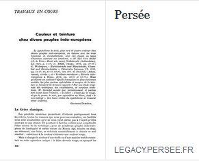 Couleurs teintures Peuples antiquité Indo européens Legio VI Ferrata