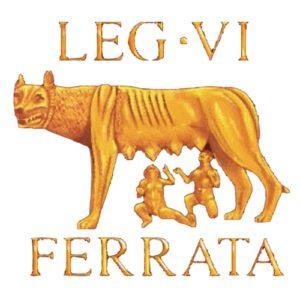 Louve romaine vexillum de la LEG VI F